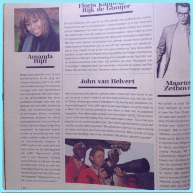 Contributor interview LXRY Magazine
