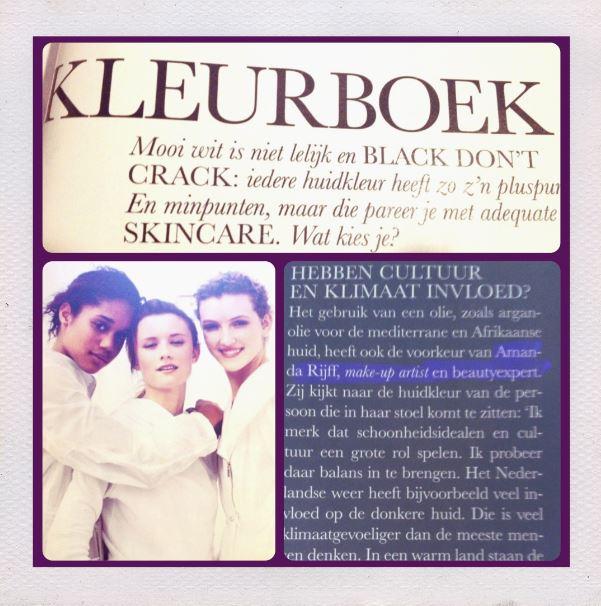 Dark Skin Article featured in Elle november 2013 issue