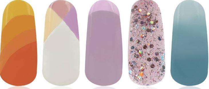 O.P.I. Tinted nail art