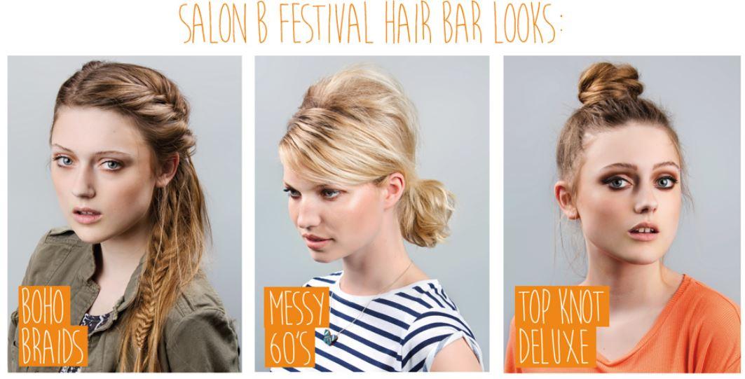 Festival look hair