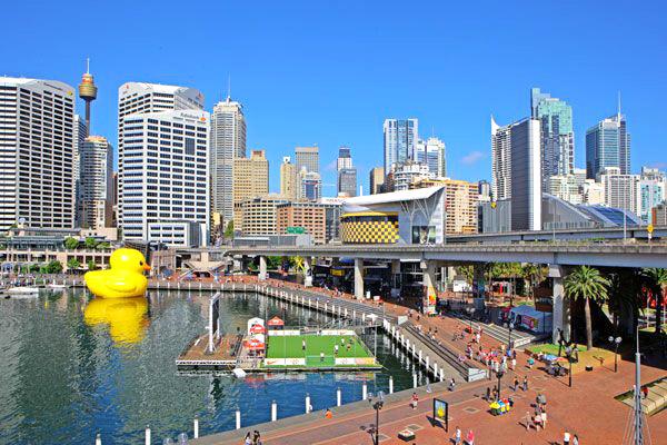 Floating Duck in Sydney by Florentijn Hofman